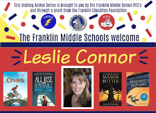 Author to visit ALL THREE Franklin middle schools in November
