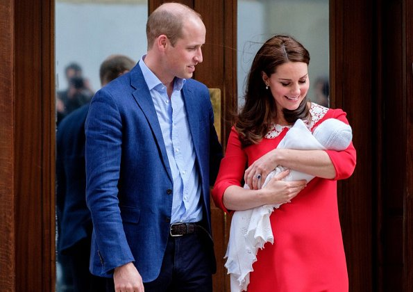 The Duke and Duchess of Cambridge - Kate Middleton. Named new royal baby Louis Arthur Charles. The baby will be known as Prince Louis of Cambridge