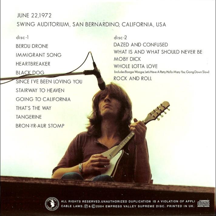 LED ZEPPELIN Original 1972 Concert Ticket Stub  LOS ANGELES  eBay