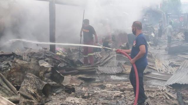 Pasar Campurdarat Terbakar, Pedagang Diperkirakan Rugi Miliaran Rupiah