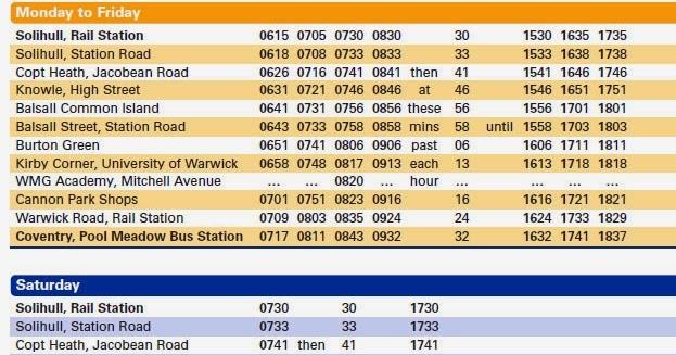 Burton Green: Buses and Transport