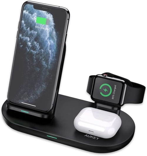 AUKEY 3 in 1 Wireless Charging Station