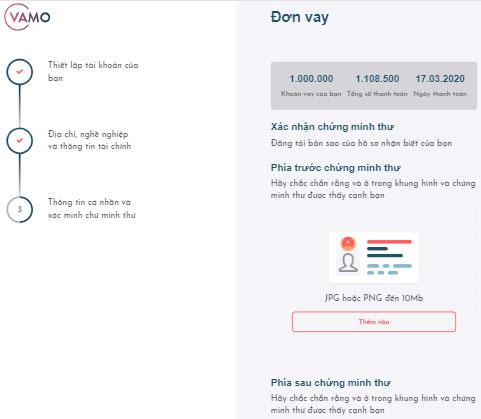 vay tiền nhanh online trong ngày lãi thấp