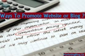 Ways to Promote your Website