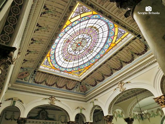 Palacete Basílio Jafet (Fotocomposição com Vitrais da claraboia)