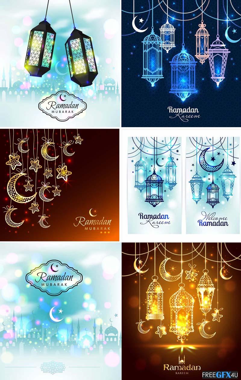 Ramadan Kareem Vector Flyer Various Decorative Designs