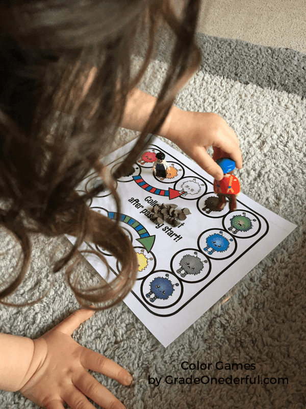 Learning Colors Games. 3 fun and easy games to print. Your child can have lots of fun learning to identify their colors with these 3 games. Quick and easy download. GradeOnederful.com