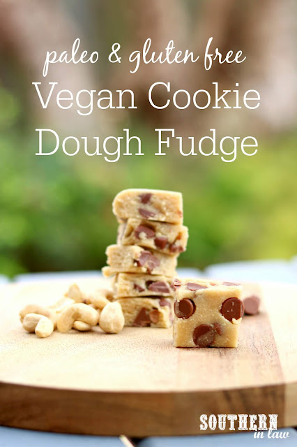Easy No Bake Vegan Cookie Dough Fudge Recipe – healthy, gluten free, paleo, sugar free, clean eating recipe