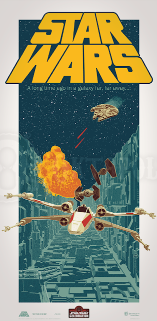 "Star Wars Celebration 2017 Exclusive ""Star Wars: Forty Years of the Force"" Screen Print by Brian Miller"