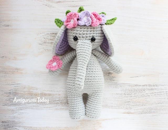 Amigurumi Elephant Snuggle : Amigurumi Cuddle Me Elephant-Free Pattern - Amigurumi Free ...