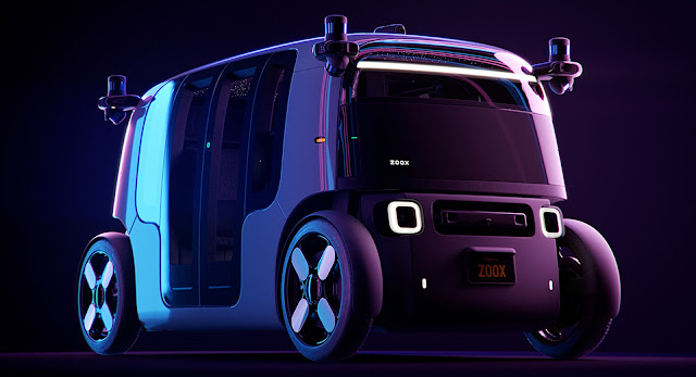 """أمازون تكشف عن سيارة """"زوكس"""" الكهربائية ذاتية القيادة"""