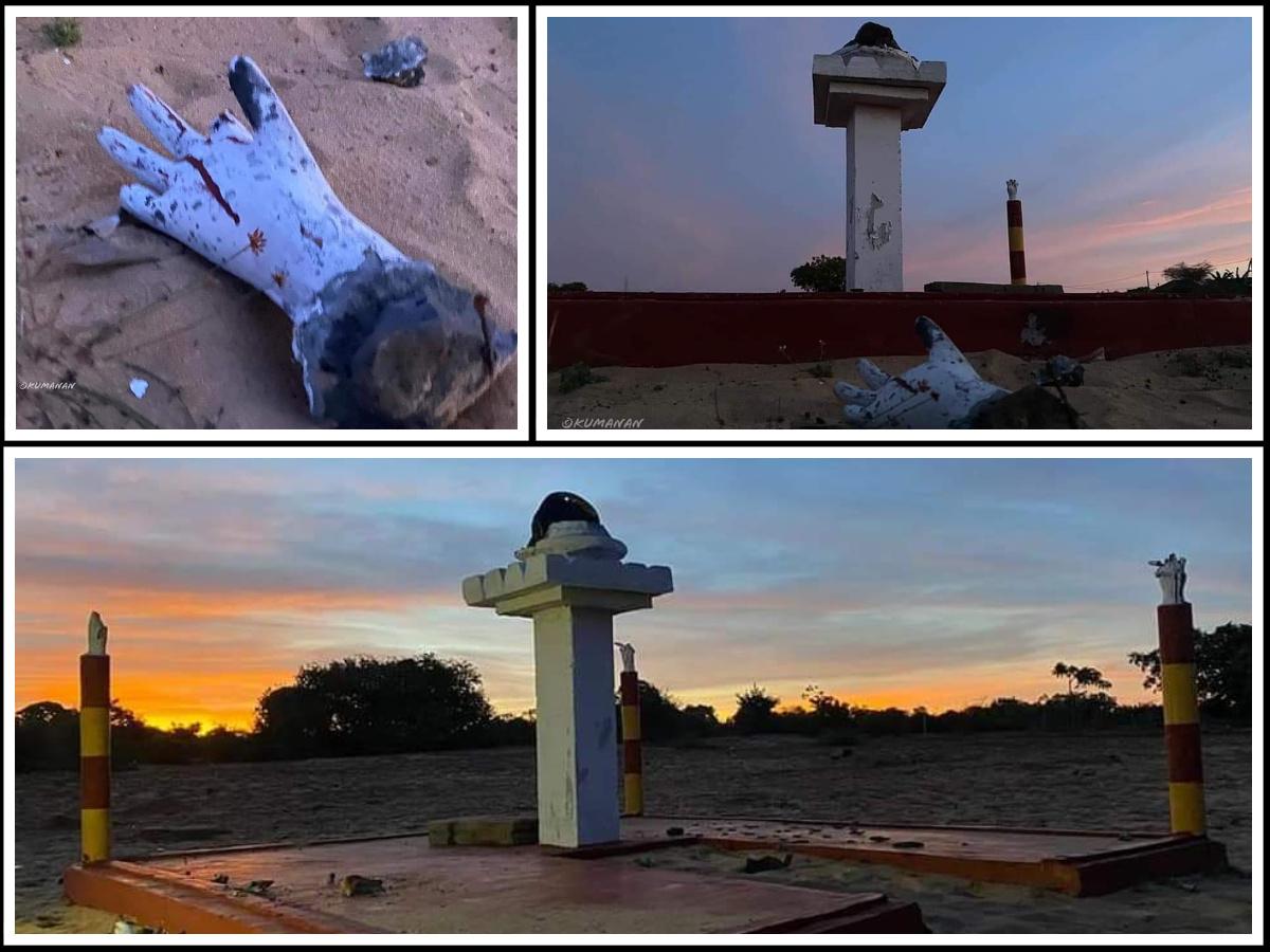 Another Mullivaikkal Monument damaged in Srilanka
