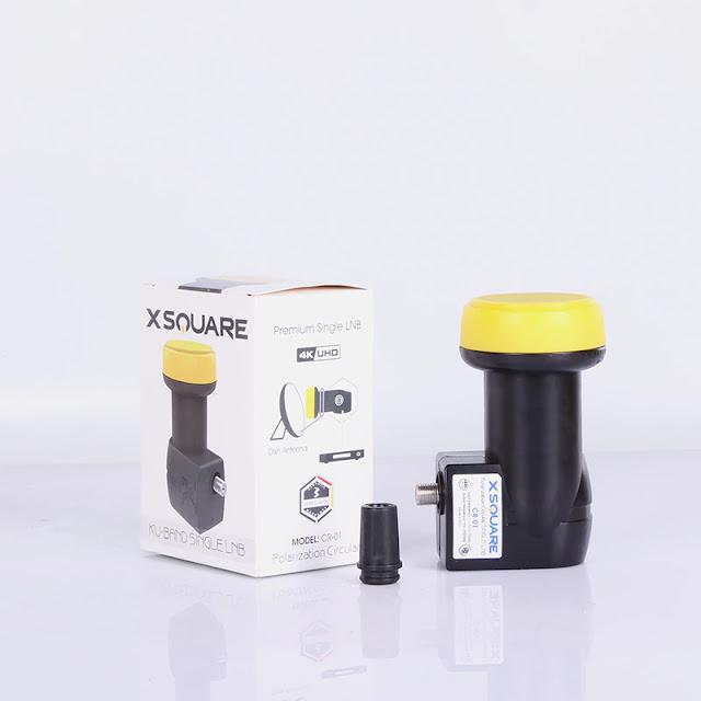 XSQUARE Circular Ku-Band Single LNB For Tricolor TV Satellite Receiver Ultra HD 4K LNBF 3 Years Guarantee