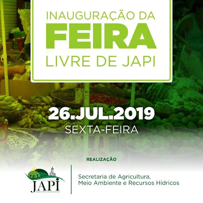 Inauguração da Feira Livre de Japi já data marcada