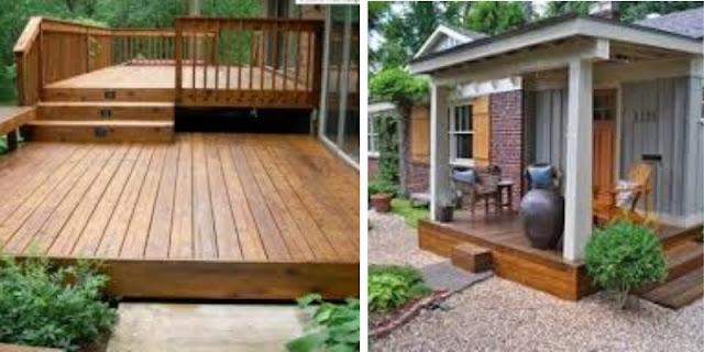 lantai kayu untuk teras rumah
