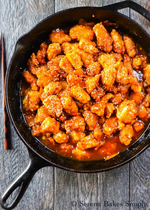 Orange Peel Chicken is a family favorite recipe that's deliciously easy to make and can be made easily gluten free. A great dinner recipe from Serena Bakes Simply From Scratch.