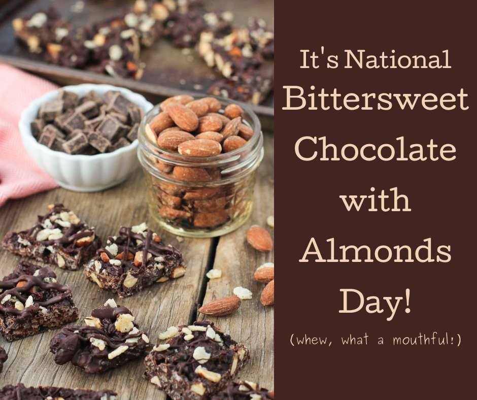National Bittersweet Chocolate with Almonds Day Wishes Awesome Images, Pictures, Photos, Wallpapers