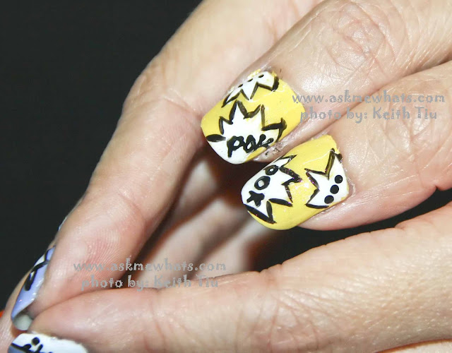a photo of Nail Art Tutorial: Pow! Bam! Boom!