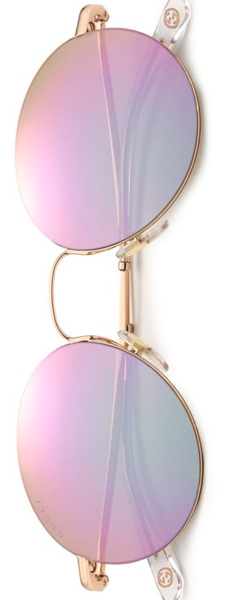 Gucci 52MM Round Sunglasses in Gold-Copper