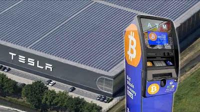 На гигафабриках Tesla появились три банкомата с функцией покупки BTC