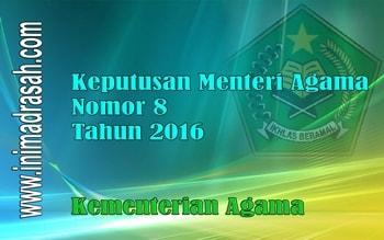 KMA Nomor 8 Tahun 2016