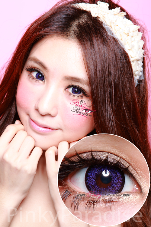 Geo Super Size Nudy Violet Circle Lenses (Colored Contacts)