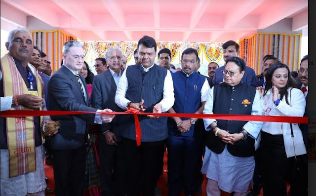 Chief Minister Devendra Fadnavis inaugurates Smt. Sunitidevi Singhania School in Thane