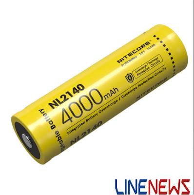 Spesifikasi Baterai nitecore 21700 NL 2140