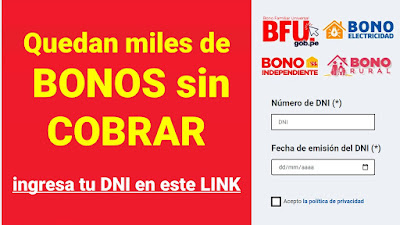 Cobra HOY el Bono Familiar Universal verifica con tu DNI si eres beneficiario