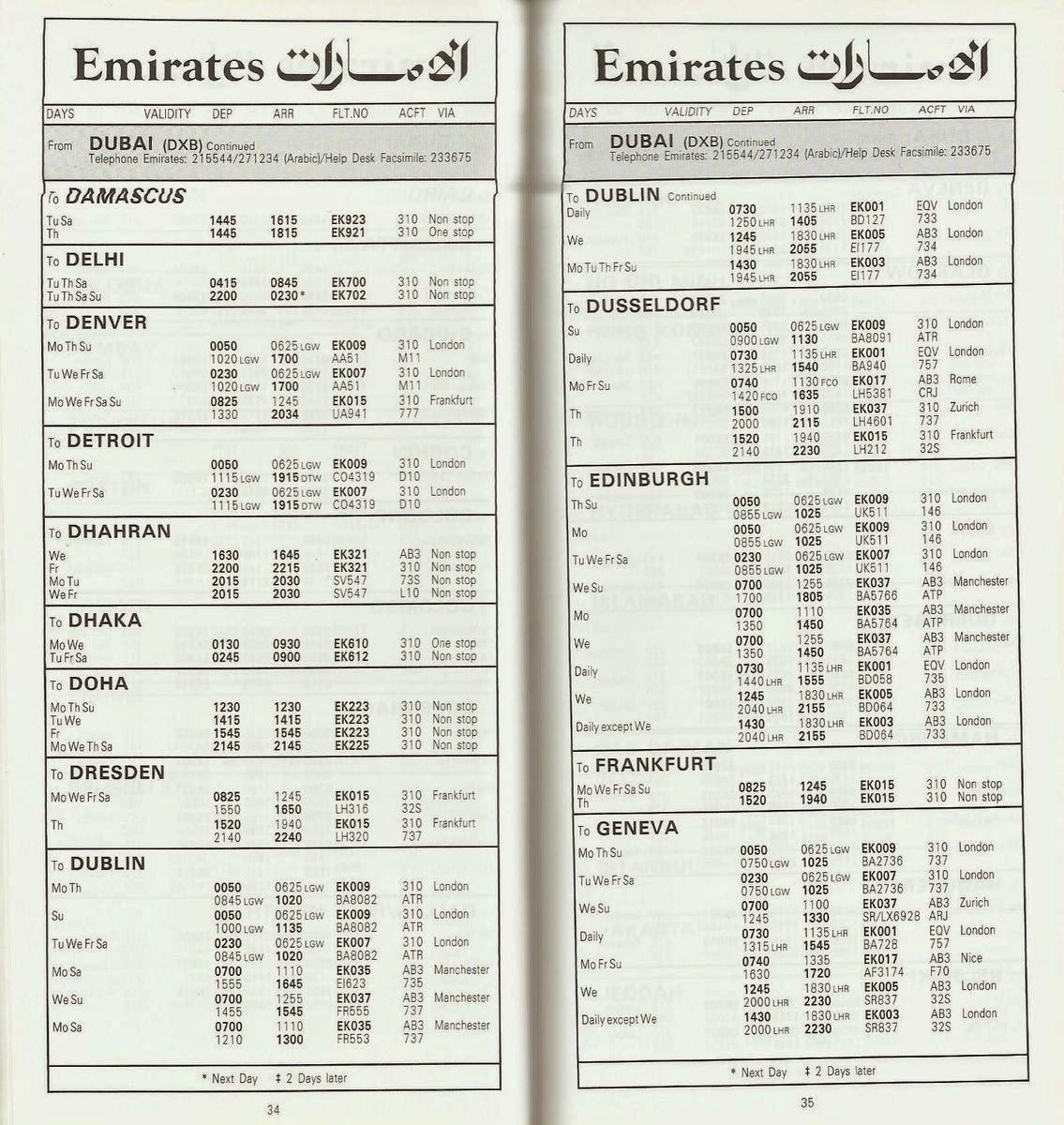 The Whole Emirates Flight Schedule Is Included In These