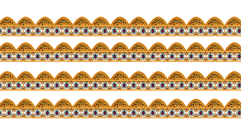 Jwellery Border Design-Digital Print