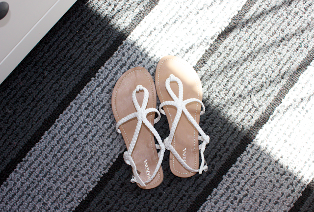 Target Merona Emily Sandals in White