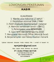 Loker Surabaya di PT. Nusa Prima Motor Januari 2021