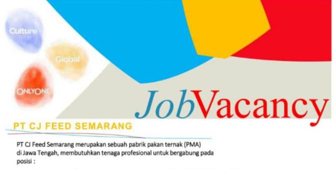 Lowongan Kerja PT CJ Cheiljedang Feed Semarang