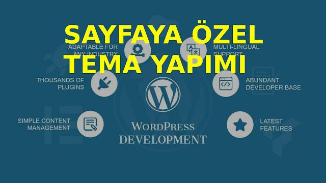wordpress sayfa teması yapımı