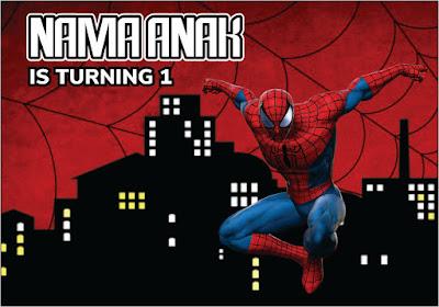 Backdrop Ulang Tahun Anak Tema Spiderman