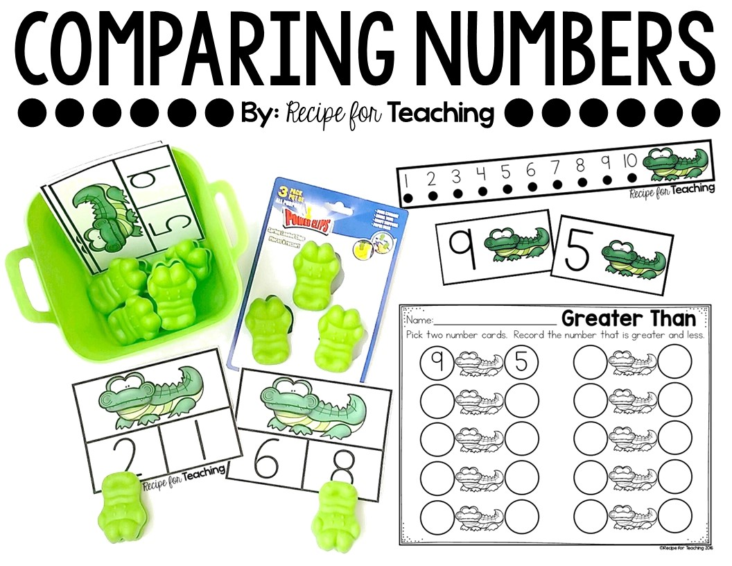worksheet Greater Less Than greater than and less alligator math recipe for teaching math