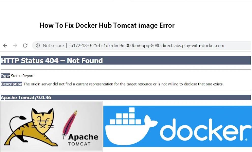 HTTP Status 404 – Not Found Docker Tomcat Image
