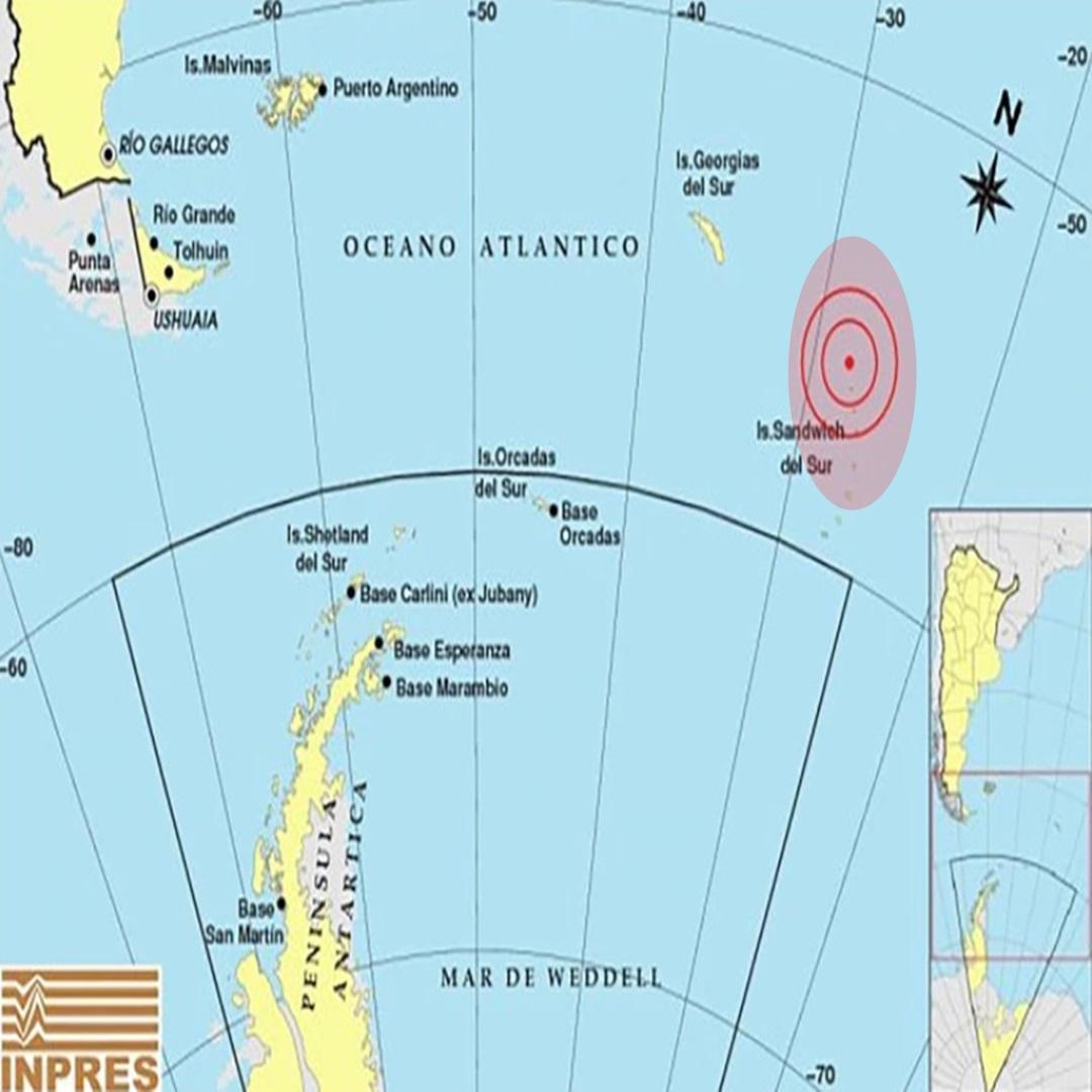 Sismo en las Islas Sandwich del Sur