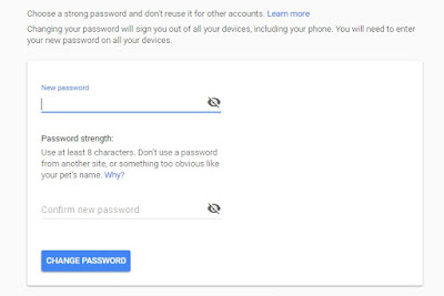 Change password gmail