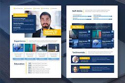 Download Template CV kreatif Mudah Dan Menarik