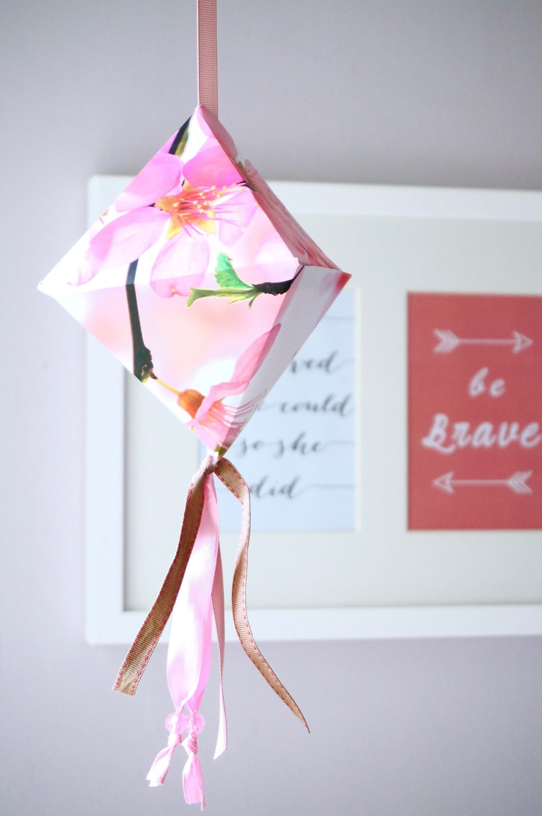 diy paper diamond lantern
