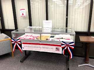 Photo of constitution day display case