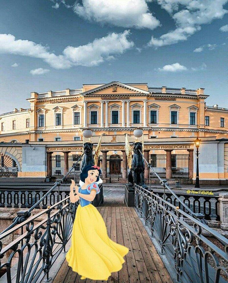 Princesas da Disney nos dias de hoje turistando pela Europa
