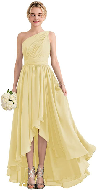 Cheap Yellow Chiffon Bridesmaid Dresses