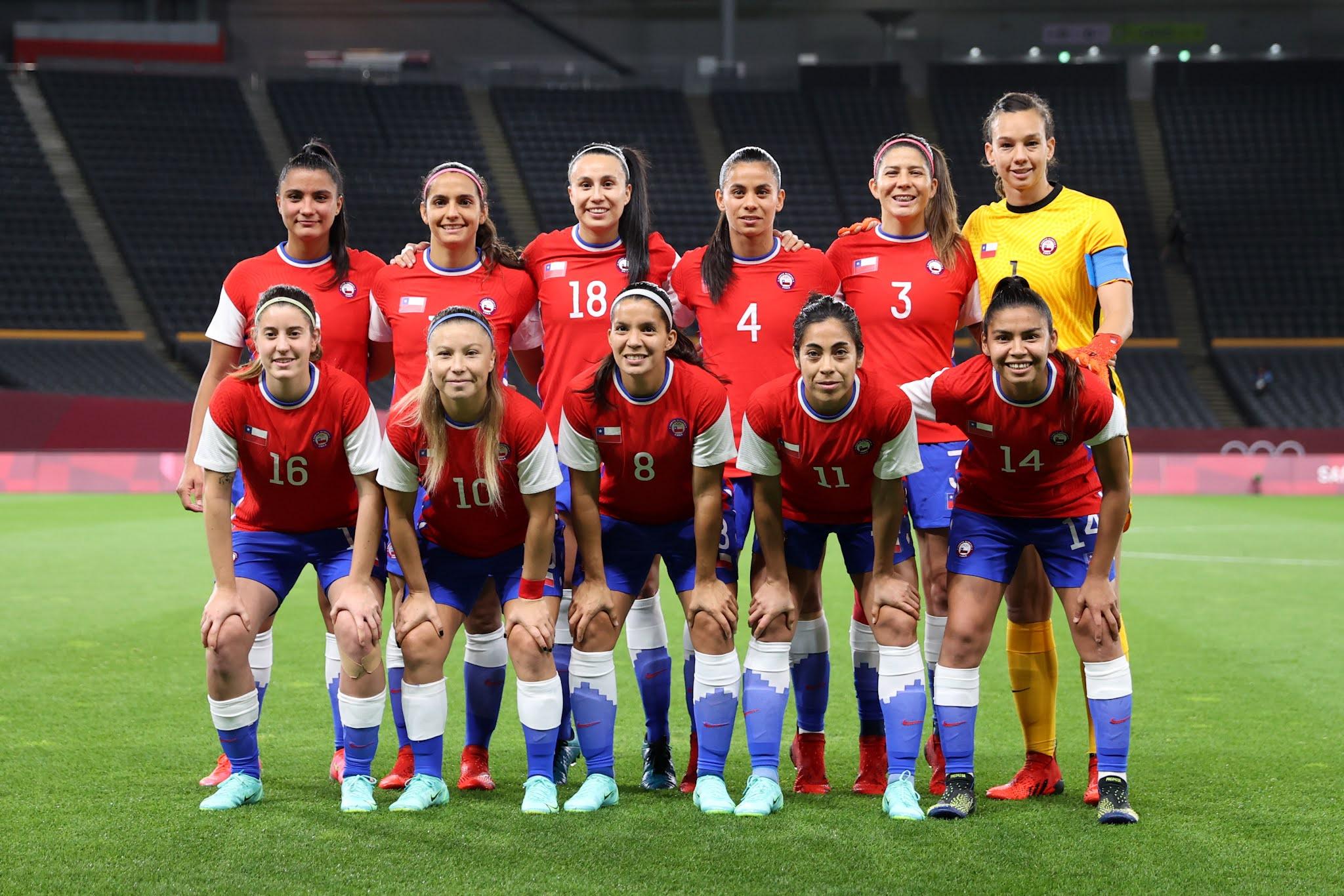 Formación de selección femenina de Chile ante Canadá, Juegos Olímpicos de Tokio 2020, 24 de julio de 2021