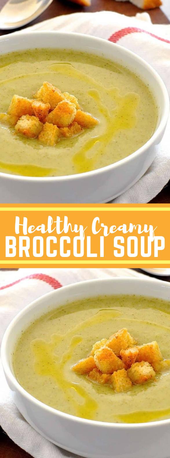 Healthy Creamy Broccoli Soup #vegan #lowcalorie