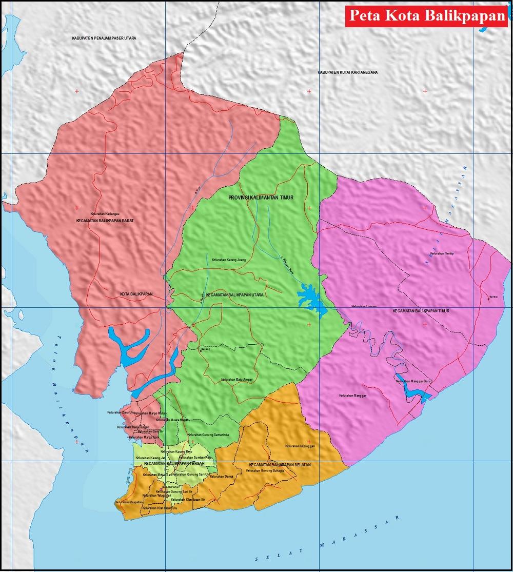 Peta Kota Balikpapan