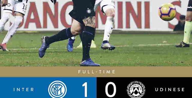 Hasil Pertandingan Inter Milan vs Udinese