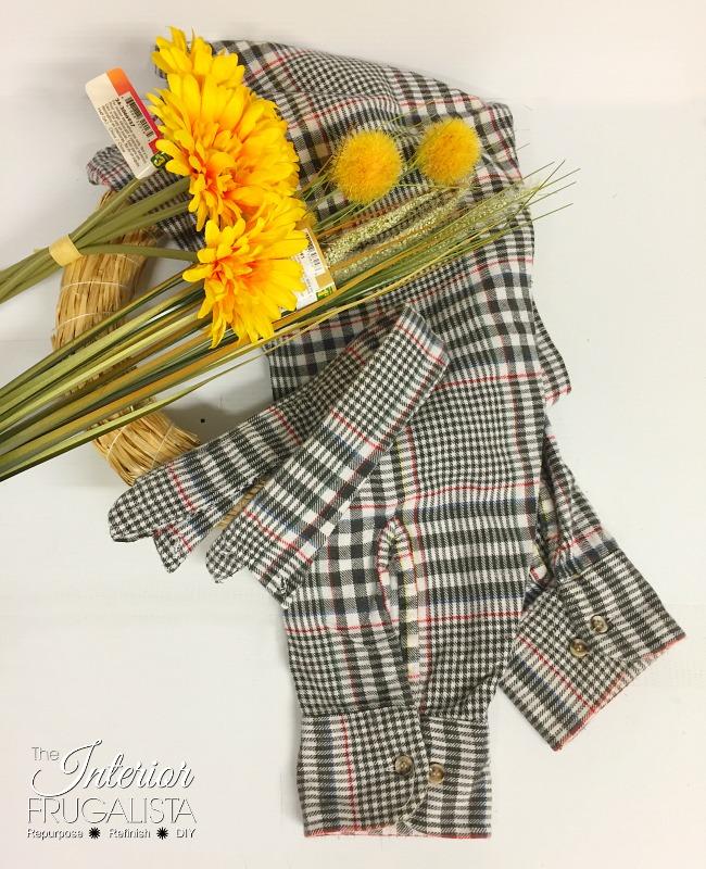 Fall Flannel Wreath Materials